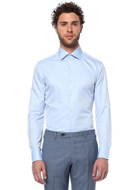 Canali Klasik Gömlek Mavi